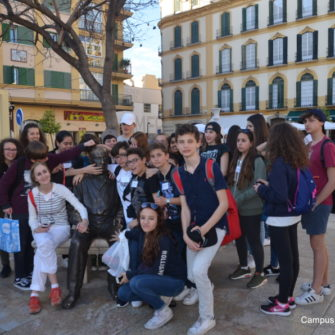 Campus Idiomático group travels to Málaga with Spanish classes - Plaza de la Merced Málaga